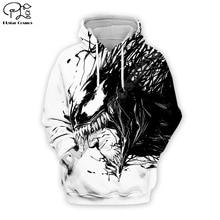 PLstar Cosmos Venom 3D Printed Hoodie Mens Womens hip hop apparel boy for girl hoodies Anime jacket Plus size XS-7XL