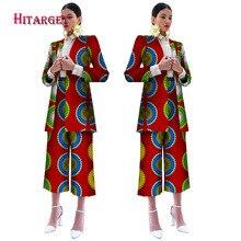 цена 2019 Africa Style Women African Blazers Set Festive Suits Ladies Print Dashiki Blazers+Cropped Pants Costume Customized  WY2375 онлайн в 2017 году