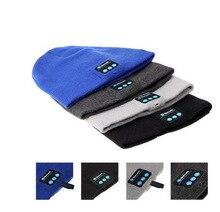 Smart Wearable Bluetooth Hat Earphone outdoor sport Warm Beanie Hat Wireless Music Cap Headphone Headset With Micphone 50pcs/lot