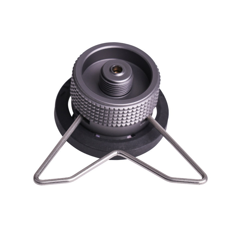 Outdoor Camping Hiking Stove Burner Adaptor Split Type Furnace Converter Connector Auto off Gas Cartridge Tank cylinder Adapter