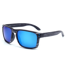 Blue Wooden Sunglasses Men 2019 Fashion Rectangle Square