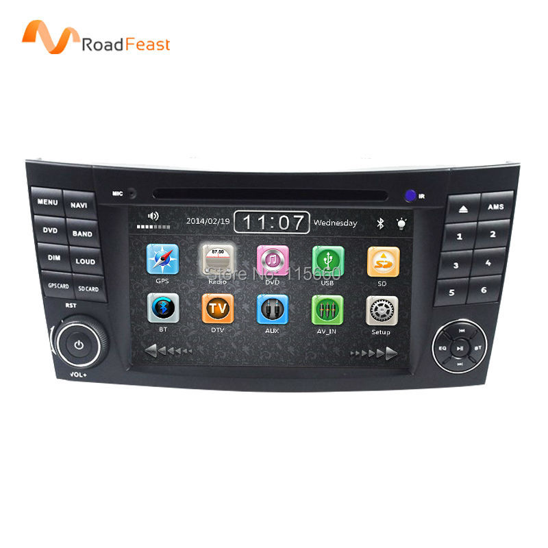 2Din 7Inch Car DVD Player For Mercedes-Benz E-Class/W211/E300/CLK/W209/CLS/W219/G-Class/W463 Canbus Radio GPS Navigation BT iPod