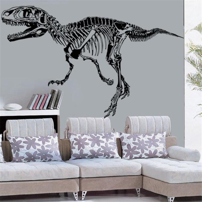 IDFIAF Dinosaur Skeleton WallStickers For Kids Room Living Bed Rooms Animal Wall Decals DIY Walls Door & Online Get Cheap Dinosaur Wall Stickers Door -Aliexpress.com ... Pezcame.Com