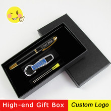 1set laser Free Custom Logo Engraving Name Business Boutique Signature Pens Gift Advertising With Gifts Box Office Supplies
