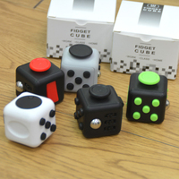 Fidget Cube A Vinyl Desk Kickstarter Toys fidget spinner Chrismtas Gifts Fidget Cube Black Green Grey Red Toys stress cube
