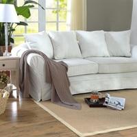 Customizable Japanese tatami style Brazilian natural sisal weaving living room sofa coffee table carpet sisal floor mat