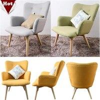Commercio all'ingrosso! Moda divano in legno, soggiorno furnture Comoda sedia, tessuto di cotone Fatta A Mano Con bracciolo divano set, 4 colori