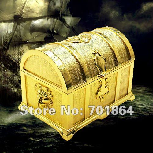 Free Shipping Pirates of the Caribbean Big Size Golden Treasure