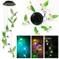 Solar Powered Wind Chime Color-Changing LED Lamps Waterproof LED Light  Hummingbird Solar Power Lamp For Home Party Garden Decor