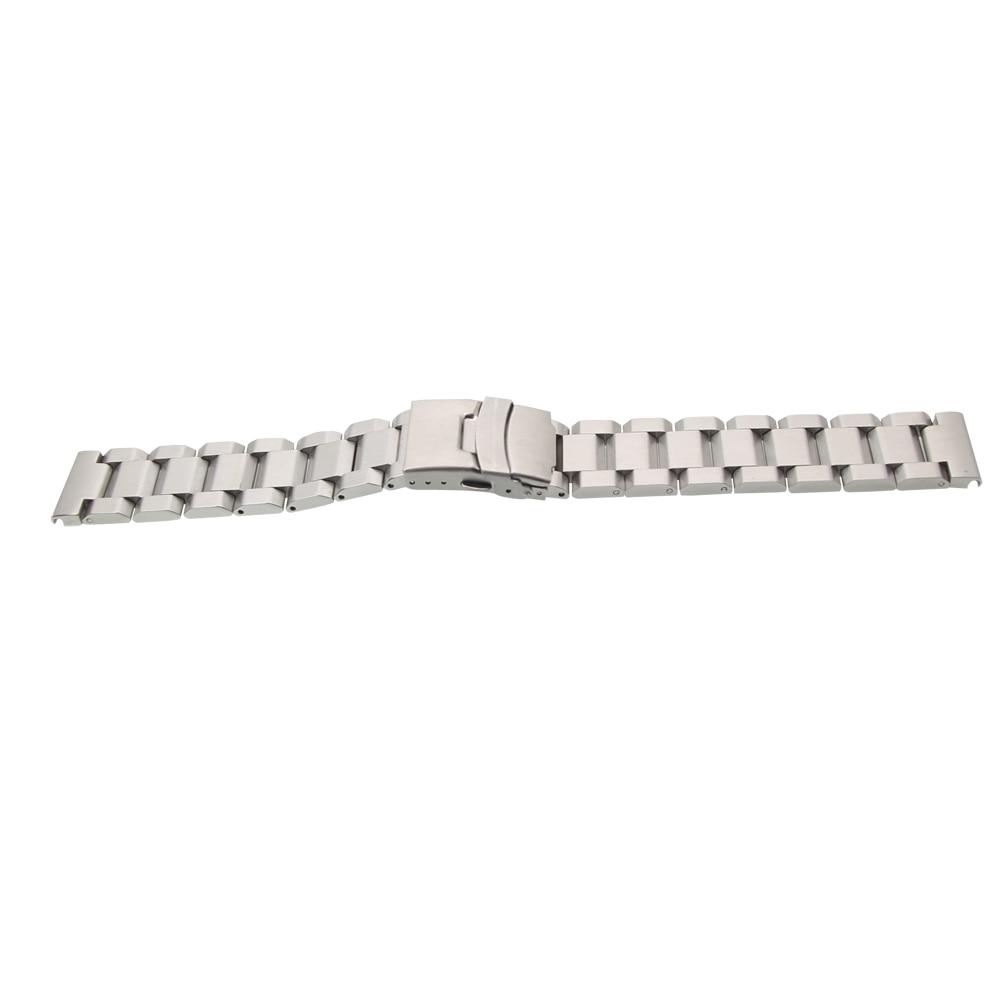 ZLIMSN Gümüş Bilezik Katı Paslanmaz Çelik Kordonlu Saat 18 20 22 - Saat Aksesuarları - Fotoğraf 5