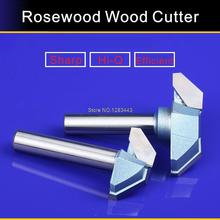 1/2*61mm Industry Flat Bottom V Shape Trimming Knife Tools,Redwood Furniture Wood Cutter Mill 5758