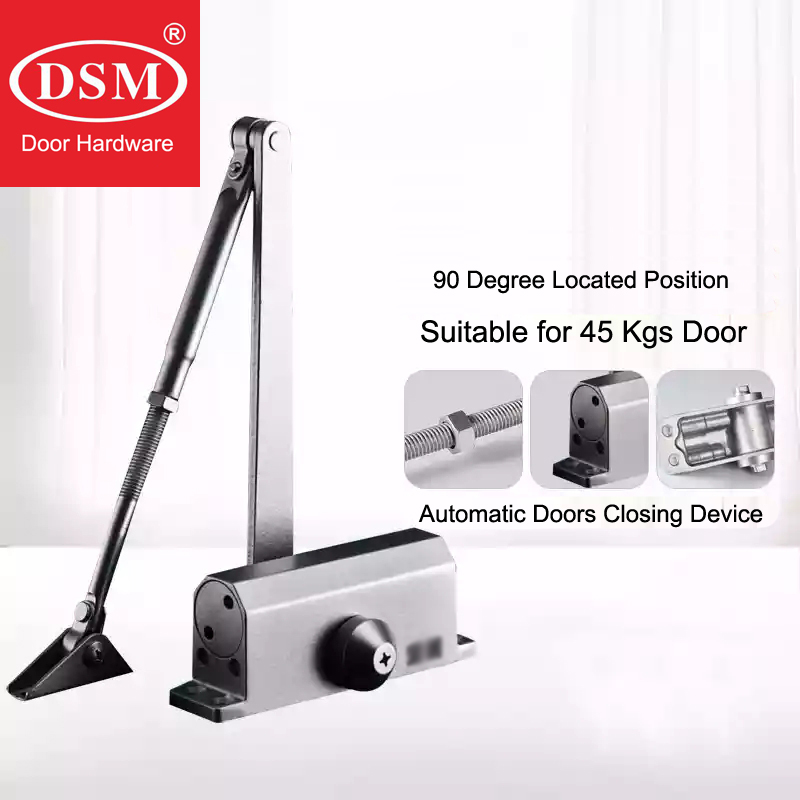 90 Degree Location Hydraulic Buffered Door Closer Automatic Closing Device Available For 45Kgs Wooden/Metal Doors WM02401