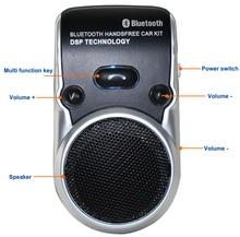 Solar powered altavoz inalámbrico de manos libres bluetooth kit de coche manos libres para teléfono móvil manos libres en el coche para iphone 7 7 s i35