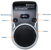 Solar Powered Speakerphone Wireless Bluetooth Handsfree Car Kit For Mobile Phone Hands Free in Car for iPhone 7 7s I35