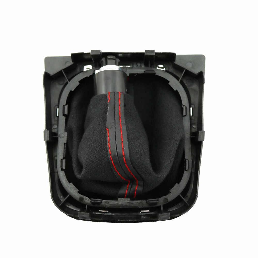 Новый 6 Скорость Шестерни рукоятка рычага переключения передач с ботинок красная линия для VW Golf 6 Mk6 2010 2011 2012 2013 2014