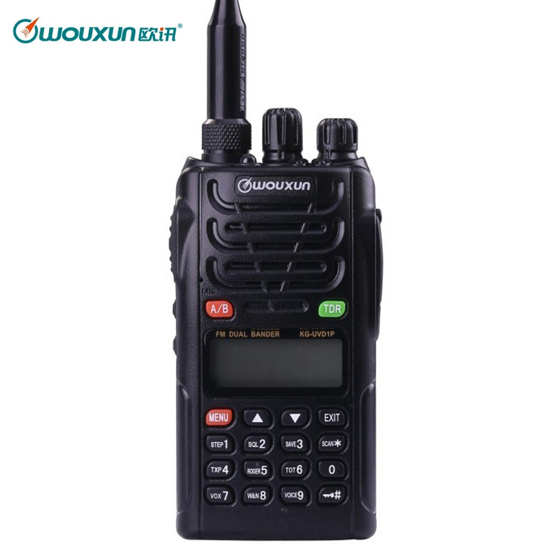 WOUXUN KG UVD1P Dual Band 136 174MHz & 400 480MHz handheld FM transceiver with VOX Function KGUVD1P Protable radio
