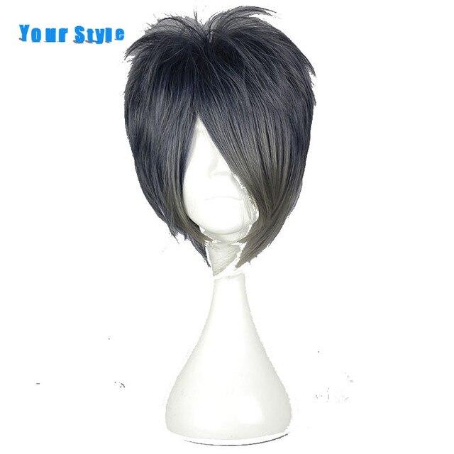 Us 2059 Ihre Stil Kurze Pixie Cut Frisuren Cosplay Haarperücken Dunkelblau Synthetische Haar Für Männer Hochtemperaturfaser In Ihre Stil Kurze