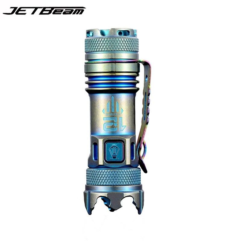 JETBeam II Pro Титан мета Мини светодиодный фонарик 510 Люмен Cree XP-L Привет свет Портативный мини-фонарик