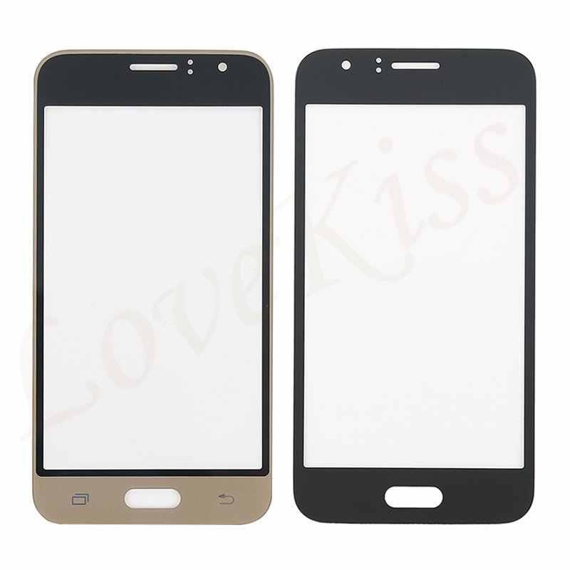 J120F Panel táctil frontal para Samsung Galaxy J1 2016 J120F J120H J120M Sensor de pantalla táctil LCD pantalla digitalizador cubierta de cristal herramientas