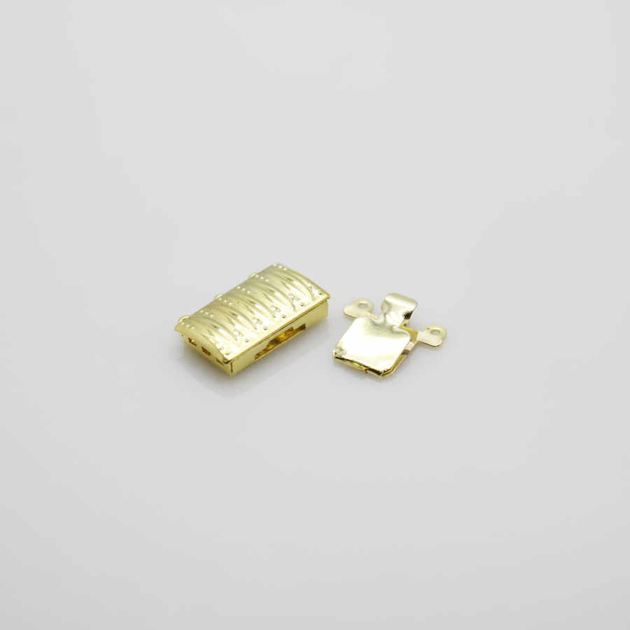10 PCS mạ sọc Hình Chữ Nhật 3-hàng Phụ Kiện đối với Phụ Kiện cho Vòng Đeo Tay Vòng Cổ Gia Công bộ phận kim loại TỰ LÀM Đồ Trang Sức làm
