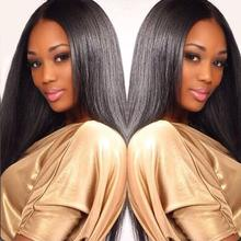 Free Shipping natural color Brazilian Full Lace Human Hair Wig Straight GluelessLace Front Wigs For Black Women