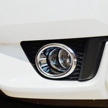 ABS Chrome For Honda Fit jazz 2014 2015 2016 2017 car body front fog light lamp detector frame stick styling cover trim parts fit for 2014 honda fit jazz chrome front rear headlight tail light cover trim