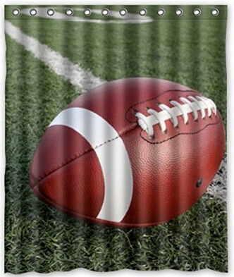 Amazing American Football Art Polyester Fabric Custom Home Decor Shower Curtain 60 X 72