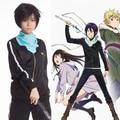 (Capa + Pant + Bufanda) Noragami Yato Cosplay Anime Jersey Traje Traje Sportwears