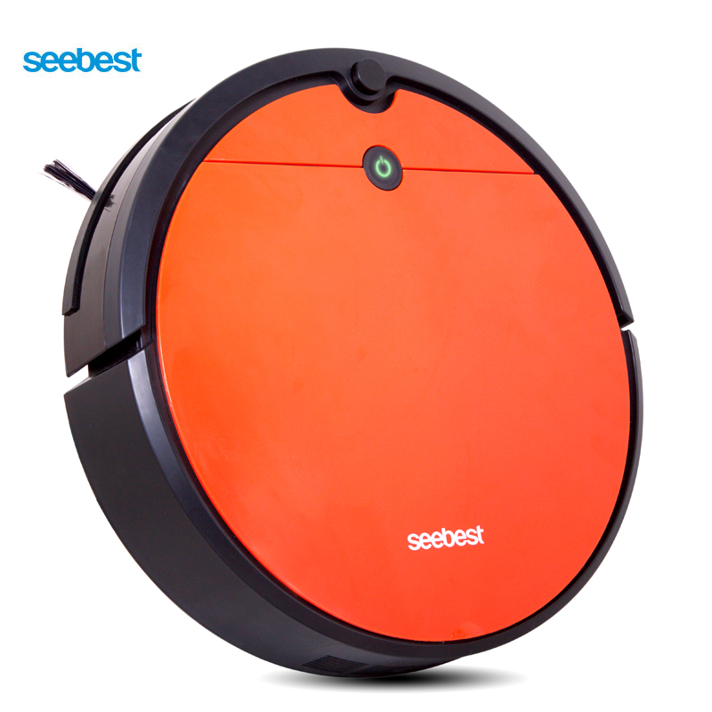 Seebest D751 Тьюринг 1,0 плюс вакуумной очистки робот с мокрой уборки и гироскоп планируется чистый маршрут, Время расписание, авто перезарядки