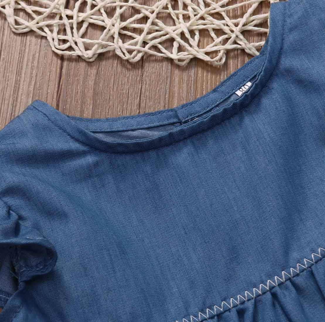 0-24M الصيف عارضة المولود الجديد الفتيان الفتيات ملابس رعاة البقر قميص قمم + سروال مخطط