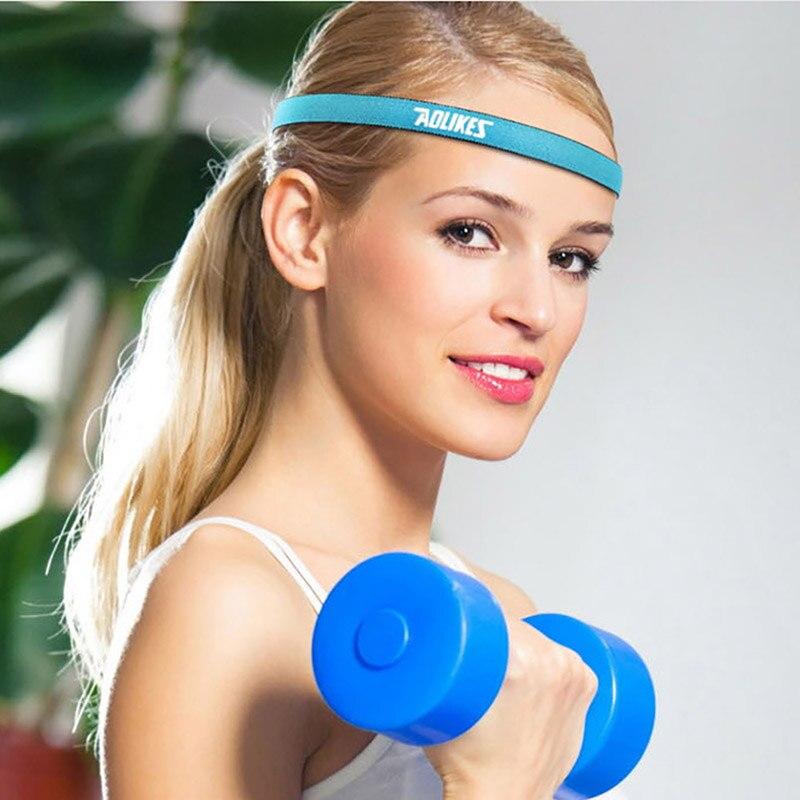 Anti-slip Women Men Elastic Yoga Hair Bands Sports Headband Sweatband Football Yoga Running Biking Headscarf Hairbands
