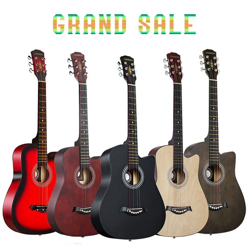 Andrew 38 inch classic color basswood classical acoustic guitar(China)
