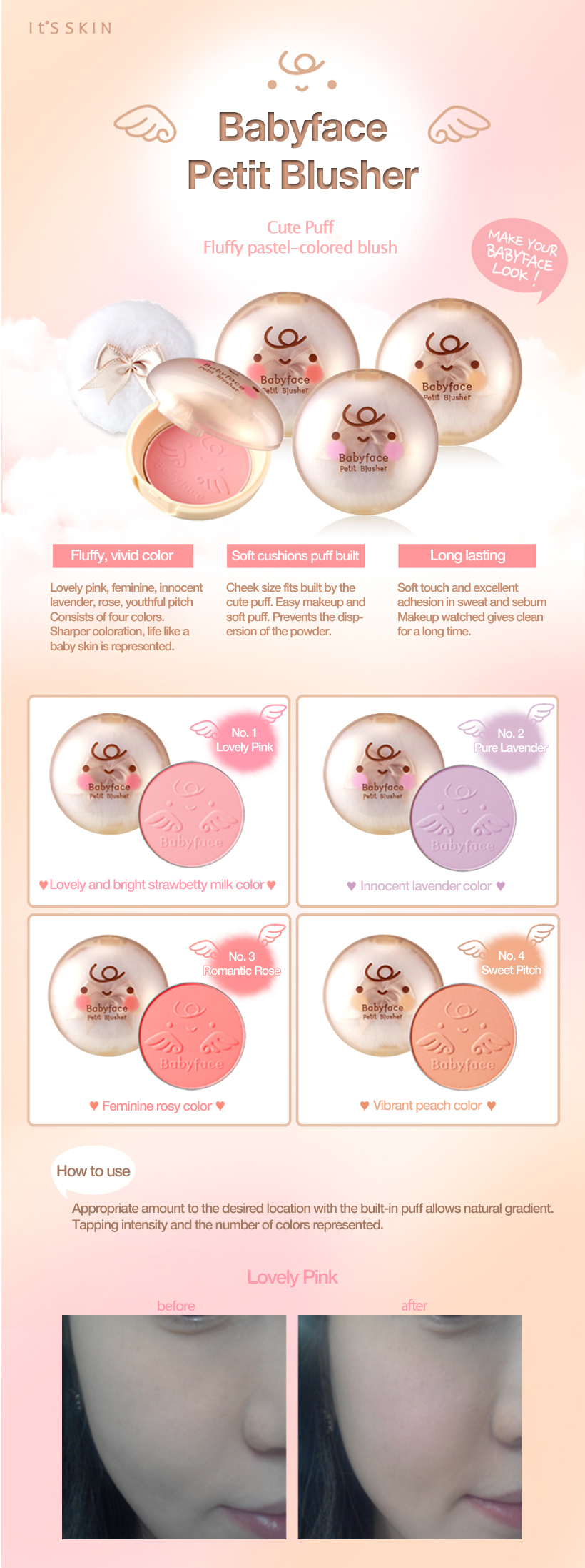 It S Skin Baby Face Petit Blusher 5 Color Blush Pressed Powder Face Blusher Palette Naked Face Mineralize Blush Powder Blush Powder Face Blusherblusher Palette Aliexpress