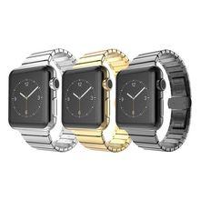 316L En Acier Inoxydable Lien Bande Pour Série 2 Papillon Boucle Bracelet Dragonne Bande de Montre Pour Apple Watch iWatch Bande 42/38