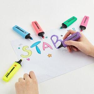Image 5 - Stabilo BOSS оригинальный хайлайтер, маркер, 6 модных пастельных цветов, 2 + 5 мм, флуоресцентный прозрачный хайлайтер