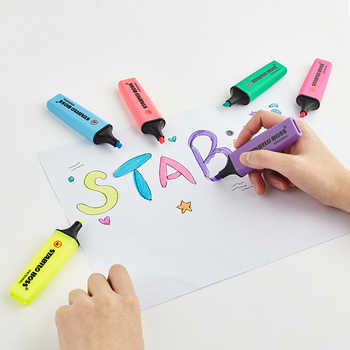 Stabilo BOSS Original Highlighter Pastels Marker Pen 6 Trendy Pastel Colors 2+5mm Chisel Tip Fluorescent Clear View Highlighter