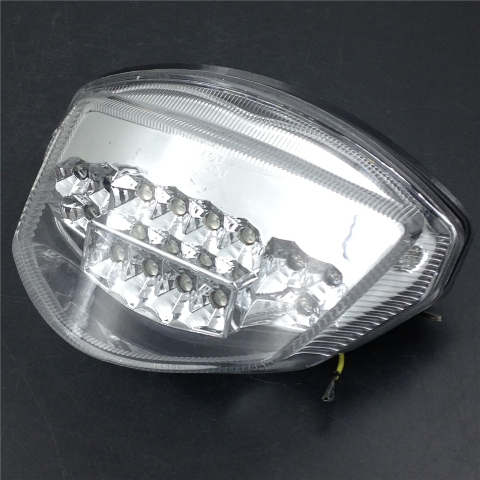 Aftermarket Motorcycle Parts LED Tail Brake Light Turn Signals for   GSX-R GSXR 1000 2007 2008 CLEAR aftermarket free shipping motorcycle parts led tail brake light turn signals for 2004 2009 yamaha fz6 fazer 600 smoke