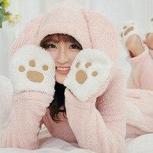 2019 New winter fashion warm christmas onesie onesies for adults pajamas pajama loose Fannel Coral fleece bear animal Kawaii fun