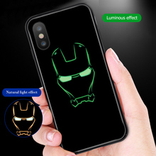 ciciber Marvel Iron Man Captain America Black Panther for IPhone X XR XS MAX Glass Cases Back Cover for IPhone 7 8 6 6S Plus