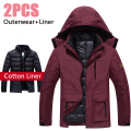 5XL 6XL Winter Jacket Men/Women Hooded Brand Waterproof Windproof Snow Jacket Thicken Warm Parka Down Coat Windbreaker Men CF005