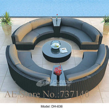 Sofa Furniture Wicker Sectional Round Set