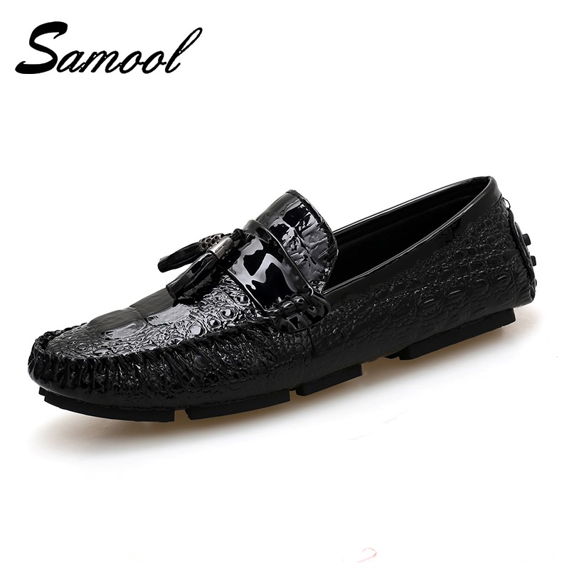 Men's Shoes Fine Mens Tassel Shoes Leather Formal Snake Fish Skin Dress Office Footwear Luxury Brand Fashion Elegant Oxford Shoes For Men M017 Shoes