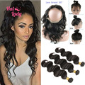 Halo Lady Hair 8A Brazilian Body Wave 360 Frontal With Bundles 360 Lace Frontal Closure With Bundles Human Hair Malibu Dollface