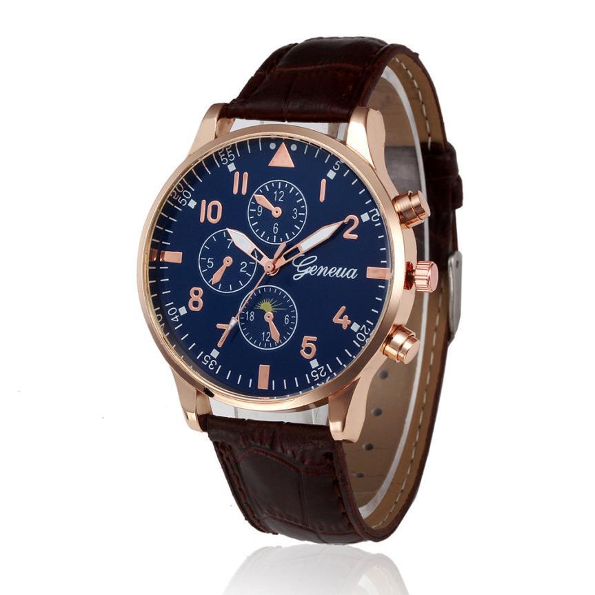 HF 2017  Retro Design Leather Band Analog Alloy Quartz Wrist Watch  ma03 Levert Dropship  Z516 5Down sunward 2017 hot high quality relogio masculino retro design leather band analog alloy quartz wrist watch