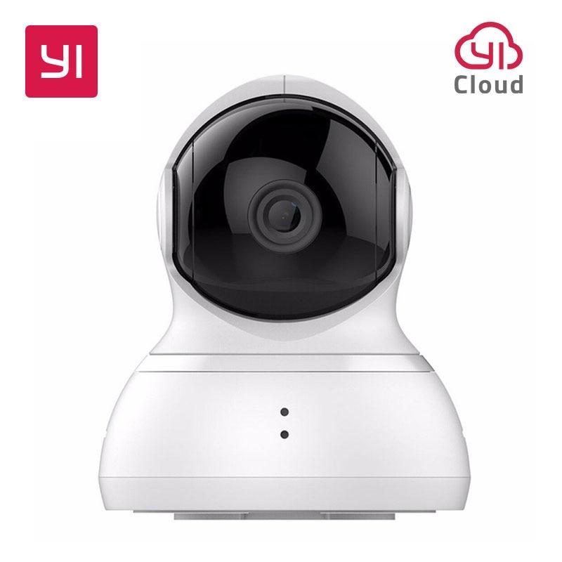 YI Câmera Dome Pan/Tilt/Zoom de Segurança Sistema de Vigilância IP Sem Fio HD 720 p Night Vision (Versão EUA/UE) YI Nuvem Disponível