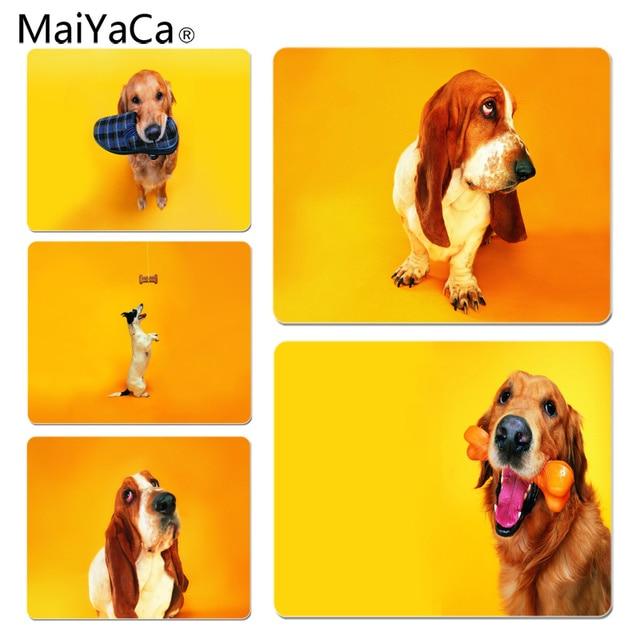 maiyaca non slip pc dog on orange background gamer play mats