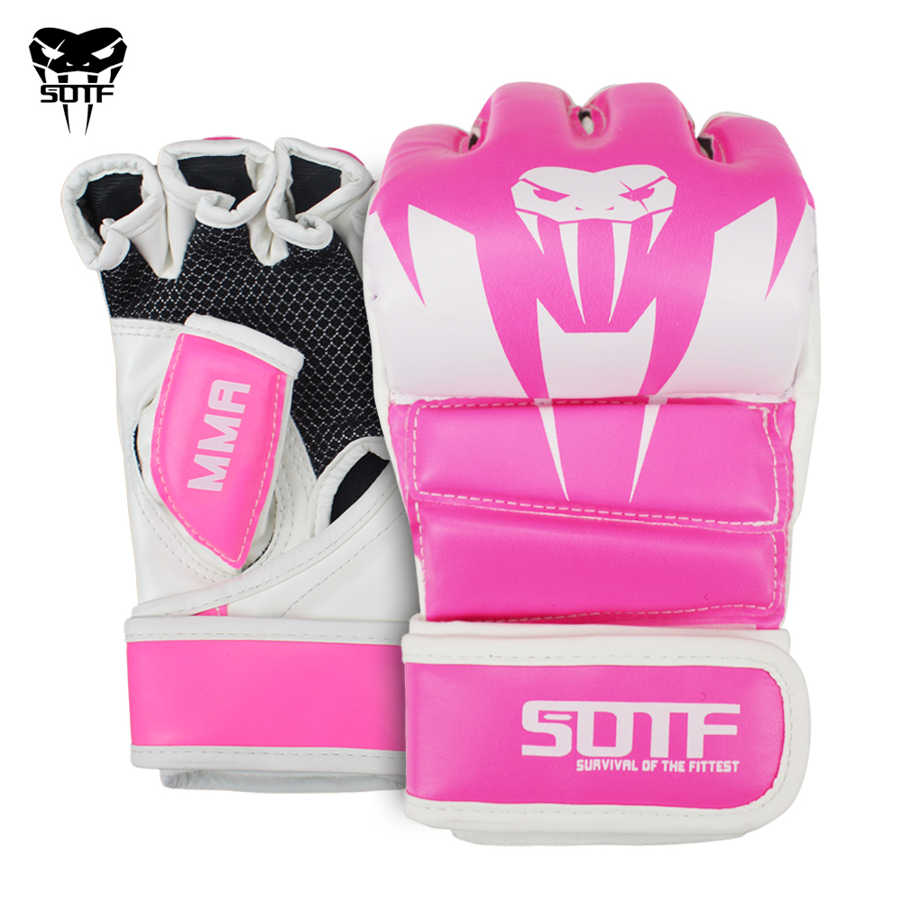 SOTF Adults MMA Venomous snake Multicolor Boxing gloves MMA Tiger Muay Thai gloves muay thai boxing fight glove Sanda pads box