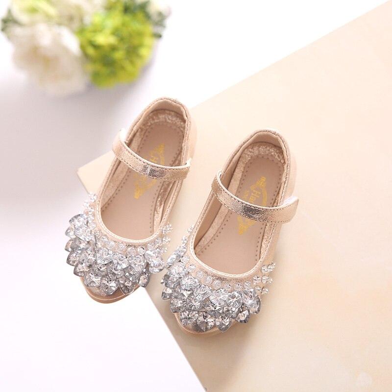 Girls Diamonds Party Wedding Sandals Infants Fancy Dress Bow Princess Shoes