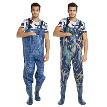 купить Fishing Waders With Wading Pants Boots Nylon + PVC Adjustable Shoulder Strap Lure Fishing Gear Boot Wader A135 по цене 3367.88 рублей