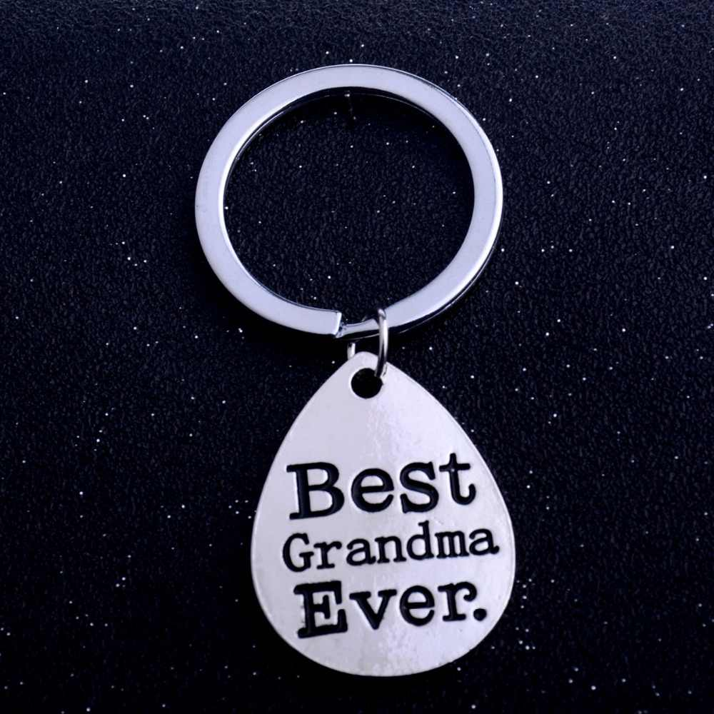 Best Grandma Ever Family Grandmother Gifts Keychain Jewelry Women Keyring Grandma's Gifts Charm